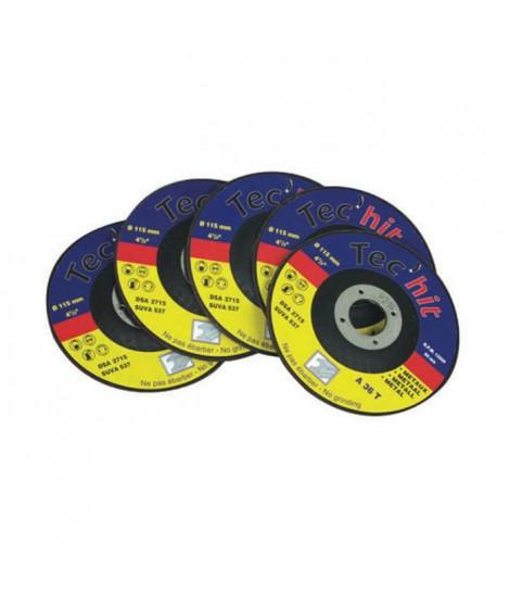 TEC HIT Jeu 5 disques diametre 115 mm fer