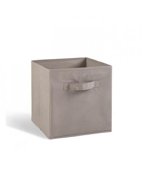 COMPO Tiroir de rangement tissu gris 27x27x28 cm