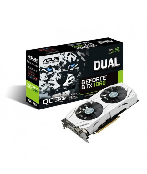Asus Carte graphique NVIDIA GeForce DUAL GTX 1060 O3Go GDDR5