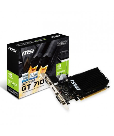 MSI Carte graphique GeForce GT 710 1Go DDR3