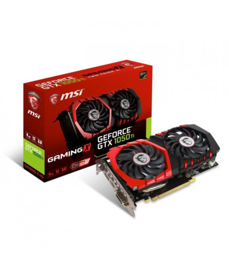 MSI Carte graphique GeForce GTX 1050 Ti GAMING X 4Go GDDR5