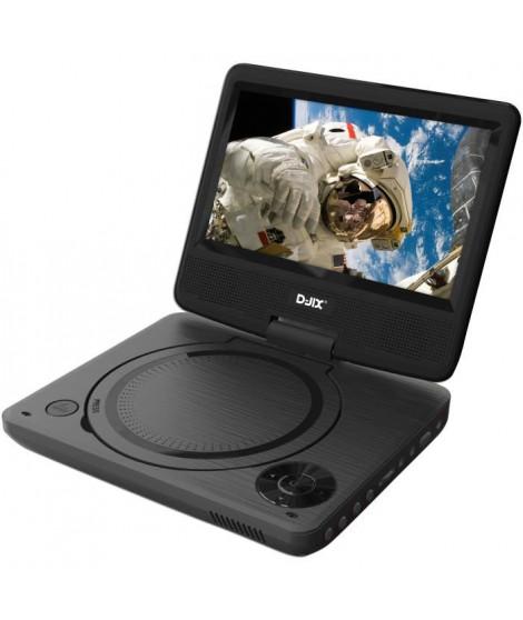 """D-JIX PVS 706-20 Lecteur DVD portable 7"""" rotatif"""