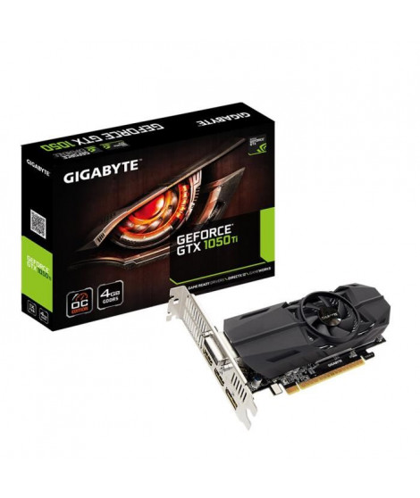 Gigabyte Carte graphique GeForce GTX 1050 Ti OC Low Profile 4G - 4Go GDDR5