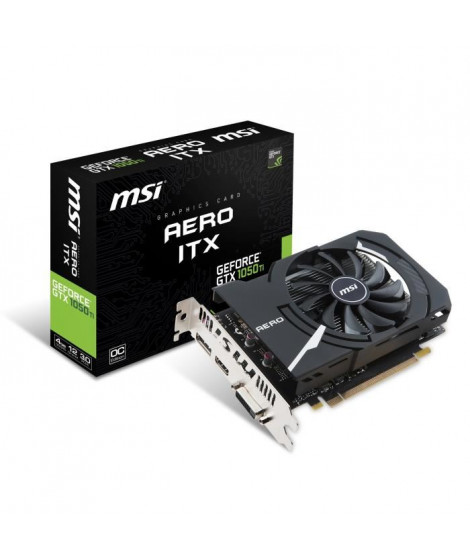 MSI Carte Graphique GeForce GTX 1050 TI AERO ITX 4G OCV1
