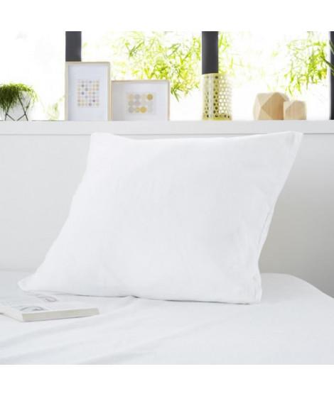 SWEETNIGHT Protege-oreiller 100% coton épais ROMY 65x65 cm - Blanc