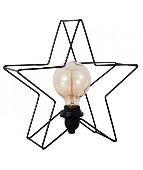 Lampe de table Estrella étoile métal 32 cm noir