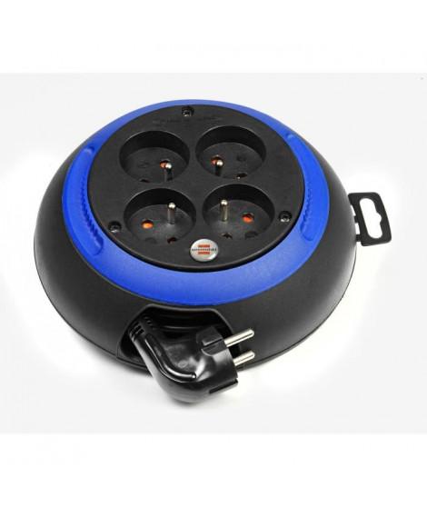 BRENNENSTUHL Enrouleur domestique Design-box cl-s noir/bleu 3m H05VV-F 3G1.0