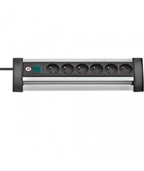 Brennenstuhl Premium Office-Line Alu Multiprise 6 Prises 3m avec Interrupteur