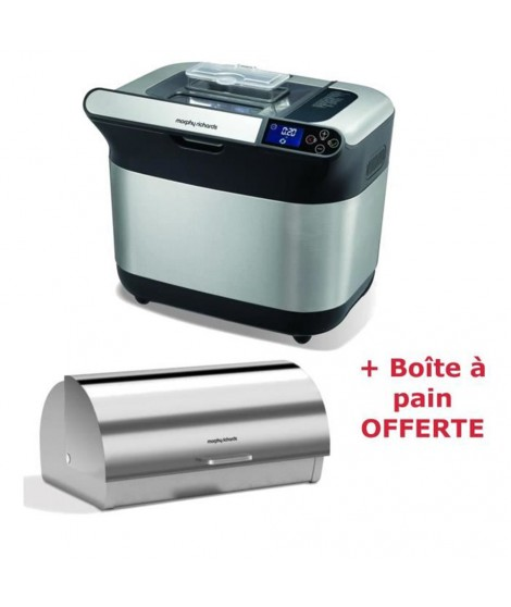 Pack MORPHY RICHARDS Machine a pain Premium Plus 4831 + Boîte a pain M46245EE OFFERTE