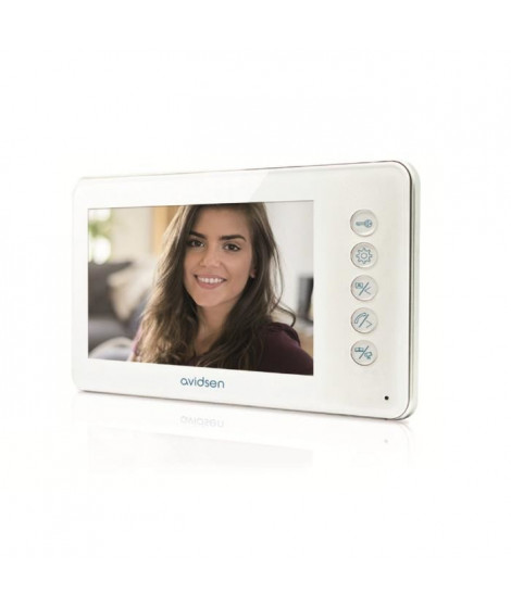 """AVIDSEN Moniteur vidéo supplémentaire écran LCD ultra plat 4,3"""" pouces pour le visiophone"""