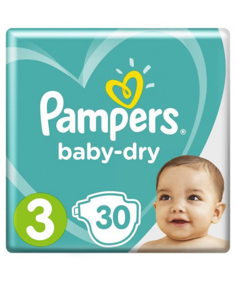 PAMPERS Baby-Dry Taille 3  5-9 kg x30 couches