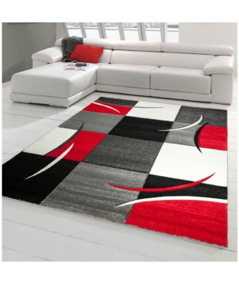 DIAMOND Tapis de salon Rouge 200x290cm