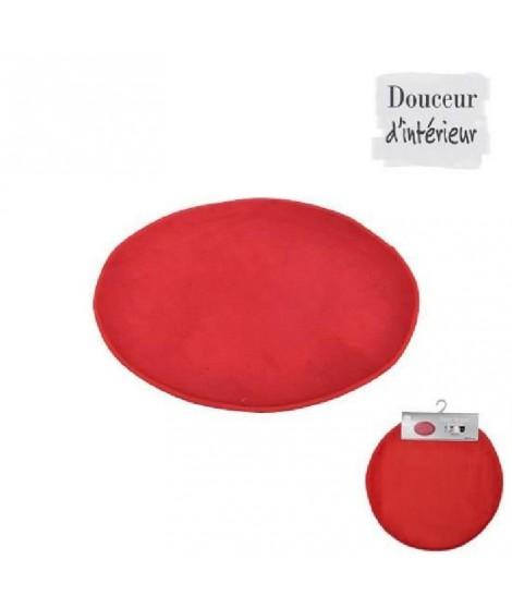 Tapis de bain rond rouge diametre 60cm