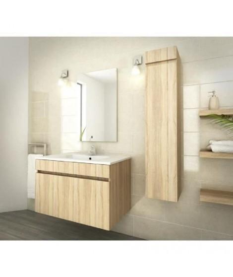 LUNA Ensemble de salle de bain 80 cm décor oak sonoma